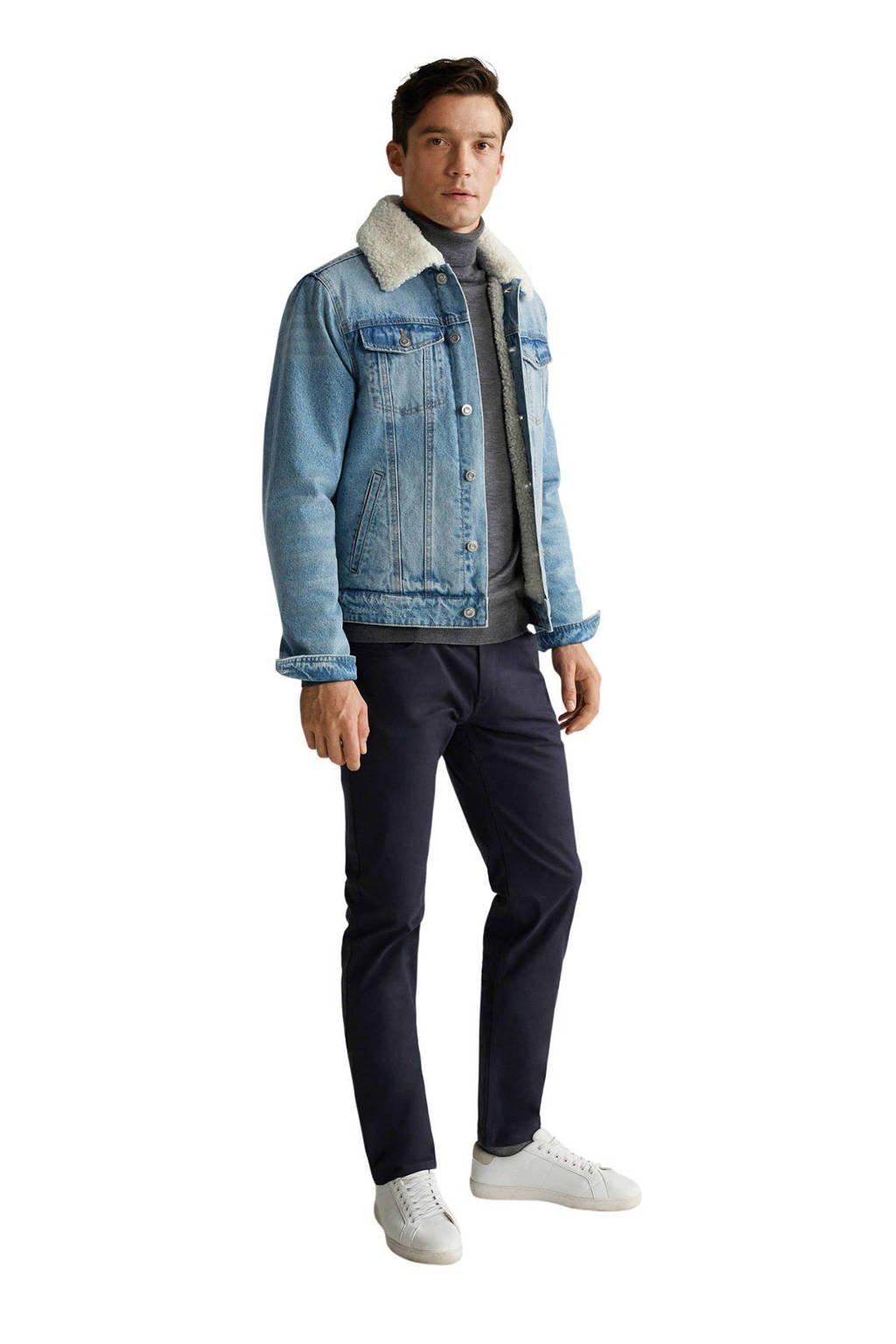 Mango Man gemêleerde zomerjas lichtblauw, Lichtblauw