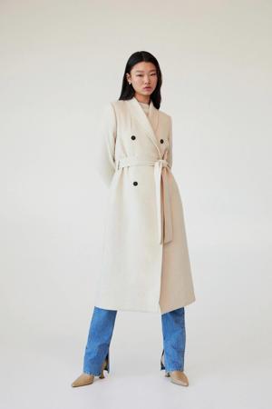 coat met wol beige