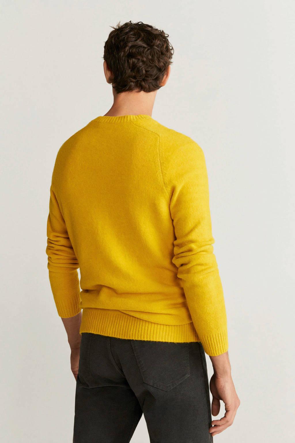 Mango Man sweater middengeel