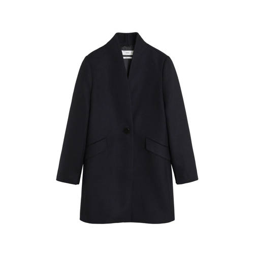 Mango coat marineblauw