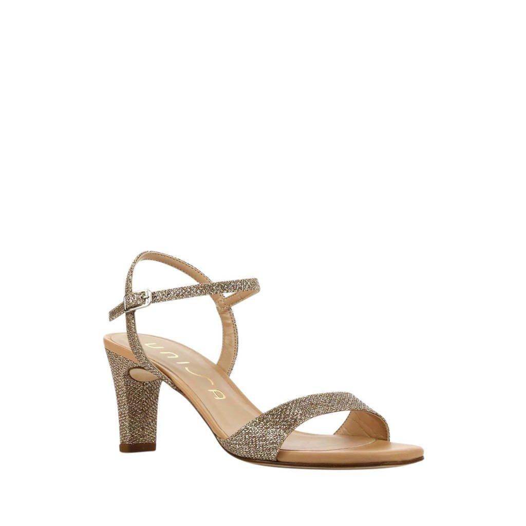 Unisa Mechi  leren sandalettes goud, Goud