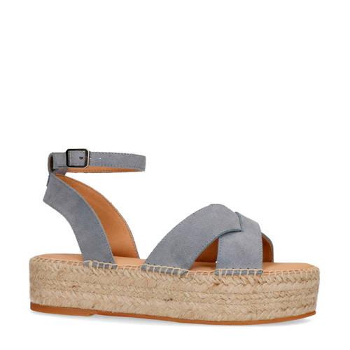 Sacha su??de plateau sandalen lichtblauw