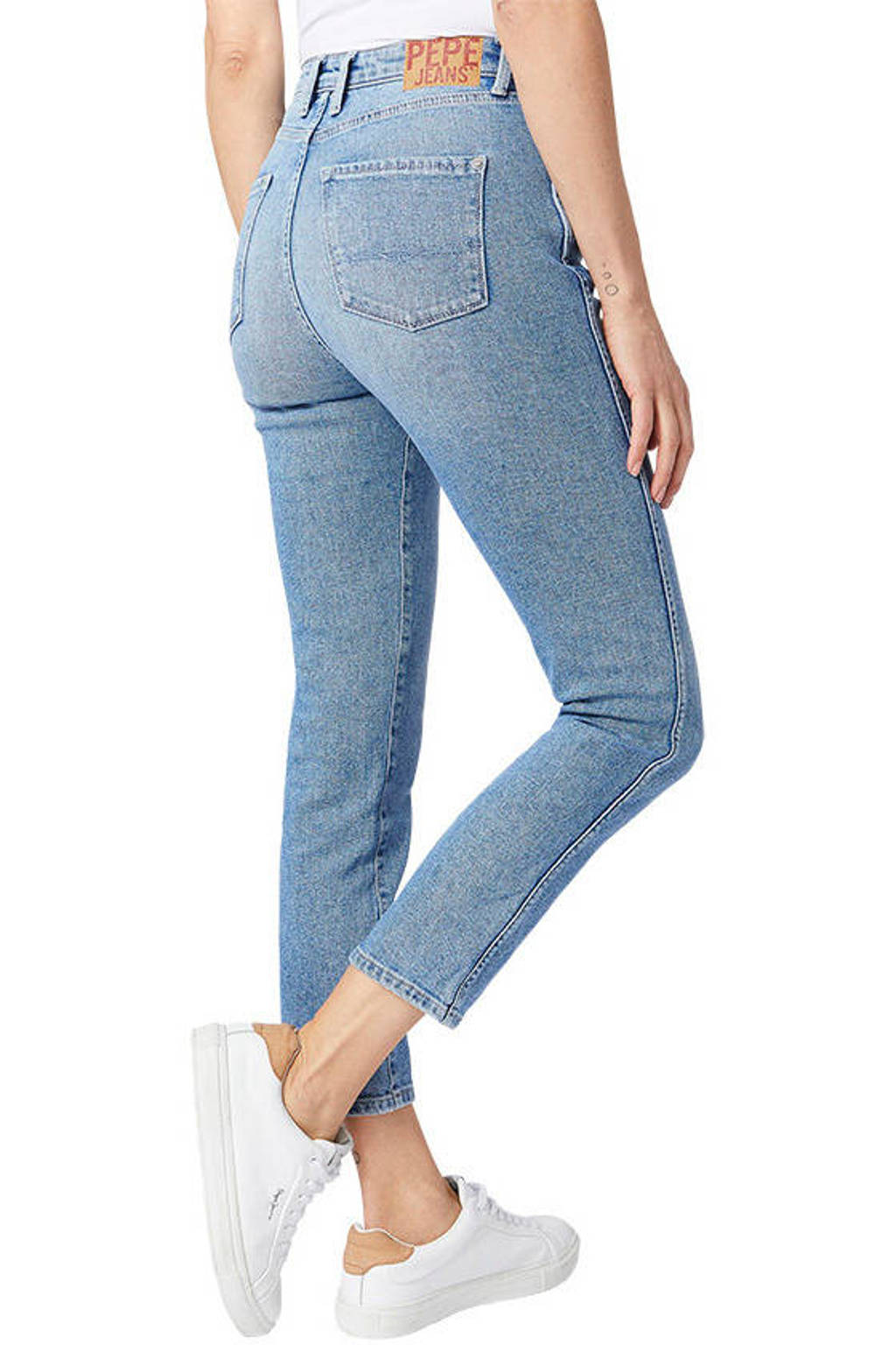 Pepe Jeans Dion high waist 7/8 jeans lichtblauw, Lichtblauw