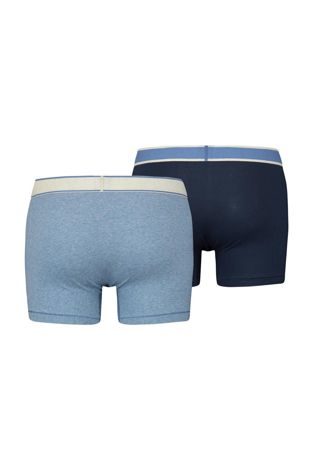 Levi's boxershort (set van 2), Lichtblauw/donkerblauw