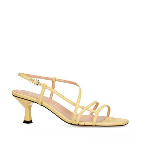 Sacha leren sandalettes geel