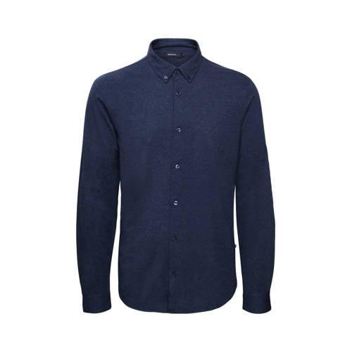 Matinique regular fit overhemd donkerblauw