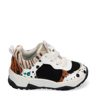 Bunnies Charlie Chunky  leren chunky sneakers wit/multi, Wit/multi