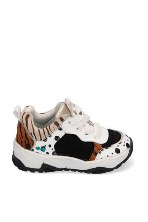 Charlie Chunky  leren chunky sneakers wit/multi