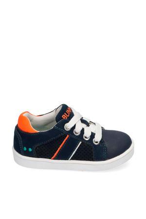 Pjotr Pit  nubuck sneakers donkerblauw
