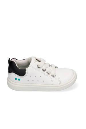 Kiki King  leren sneakers wit/zwart