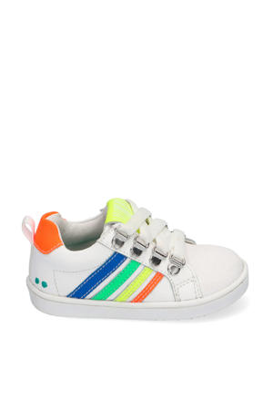 Puk Pit  leren sneakers wit/multi