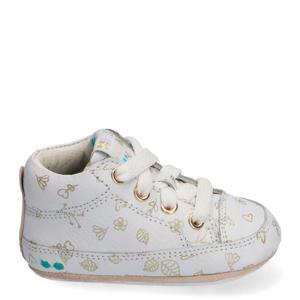 Zukke Zacht  leren babyschoenen wit/goud