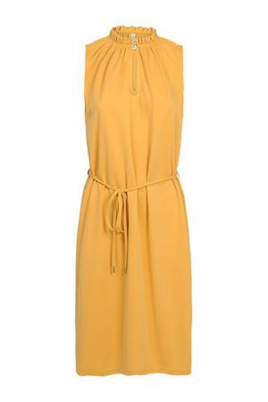 jurk met ruches geel