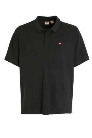 regular fit polo antraciet/rood