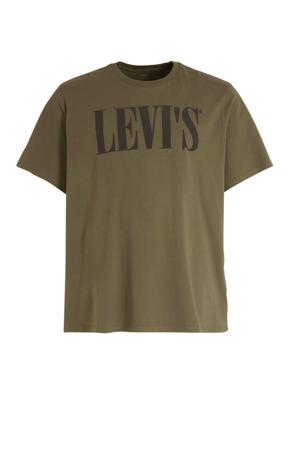 T-shirt met logo olive night