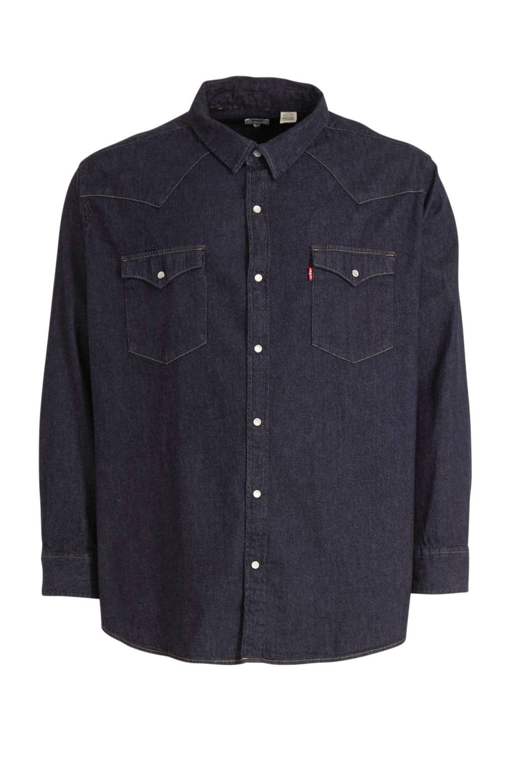Levi's Big and Tall regular fit overhemd donkerblauw, Donkerblauw