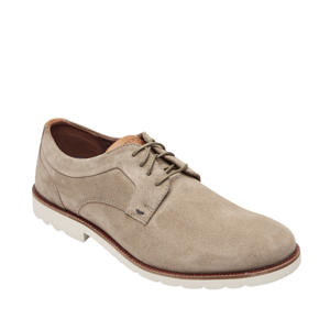 Sharp&Ready 2 Plain Toe Oxford  suède veterschoenen beige