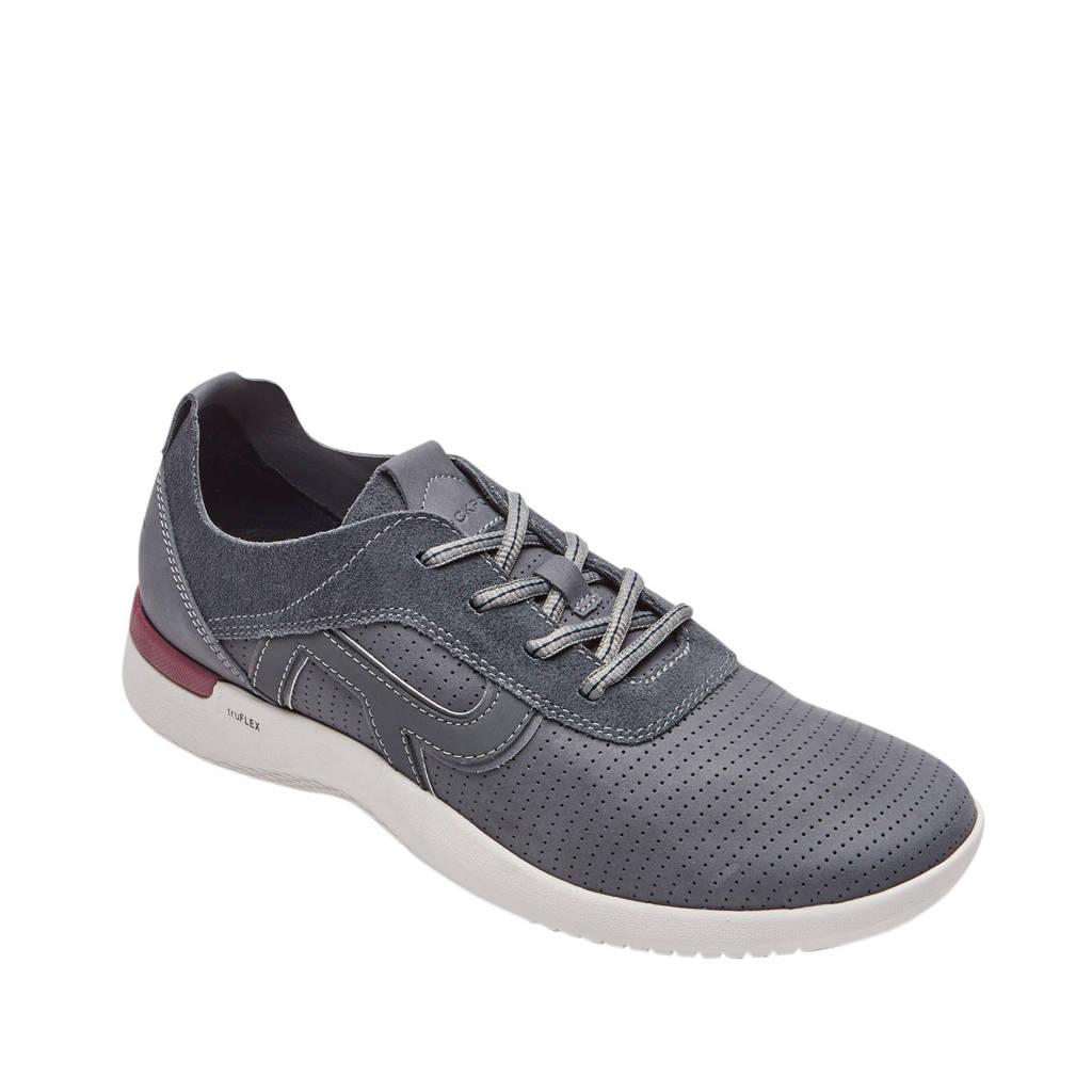 Rockport truFlex Fly  leren sneakers grijs, Grijs
