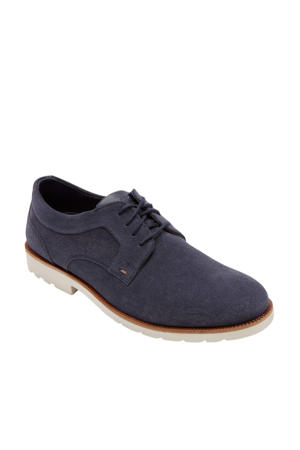 Sharp&Ready 2 Plain Toe Oxford  suède veterschoenen blauw