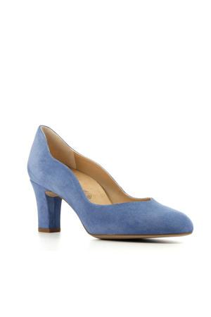 Moran  suède pumps blauw