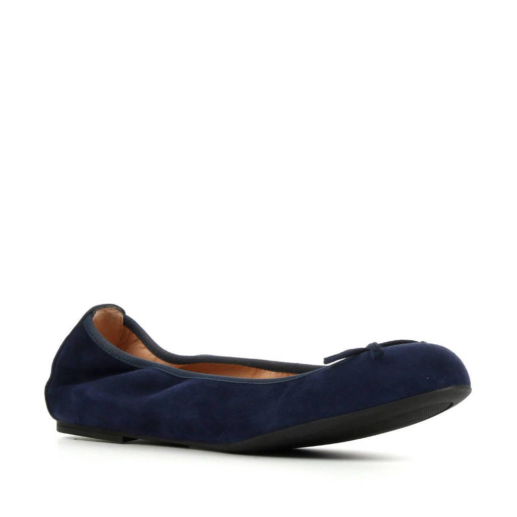 Unisa Acor  suède ballerina's donkerblauw, Donkerblauw