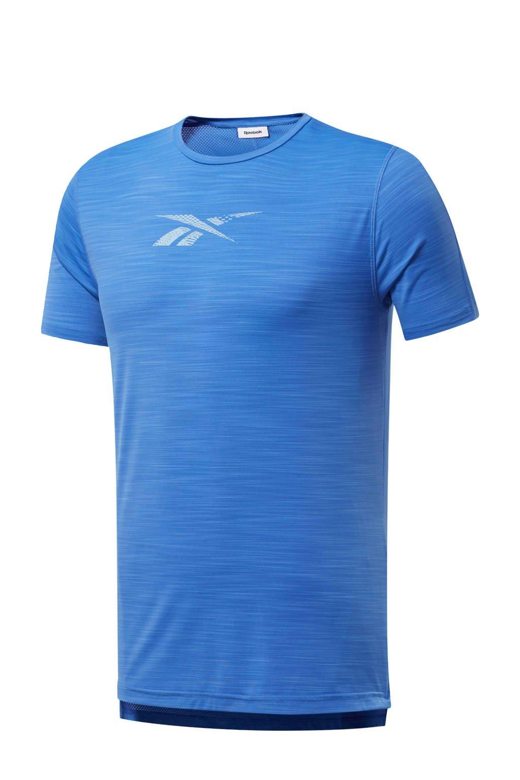 Reebok   sport T-shirt blauw, Blauw