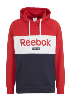 sportsweater donkerblauw/wit/rood