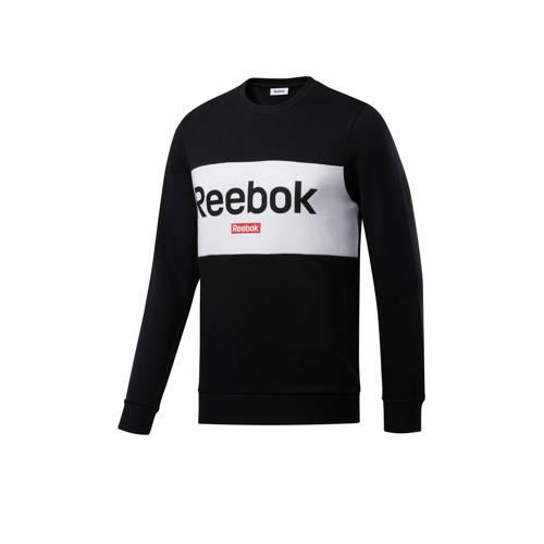 Reebok Training sportsweater zwart/wit
