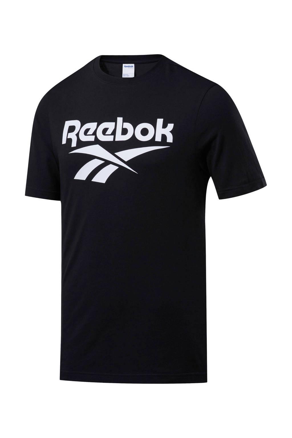 Reebok   T-shirt zwart, Zwart