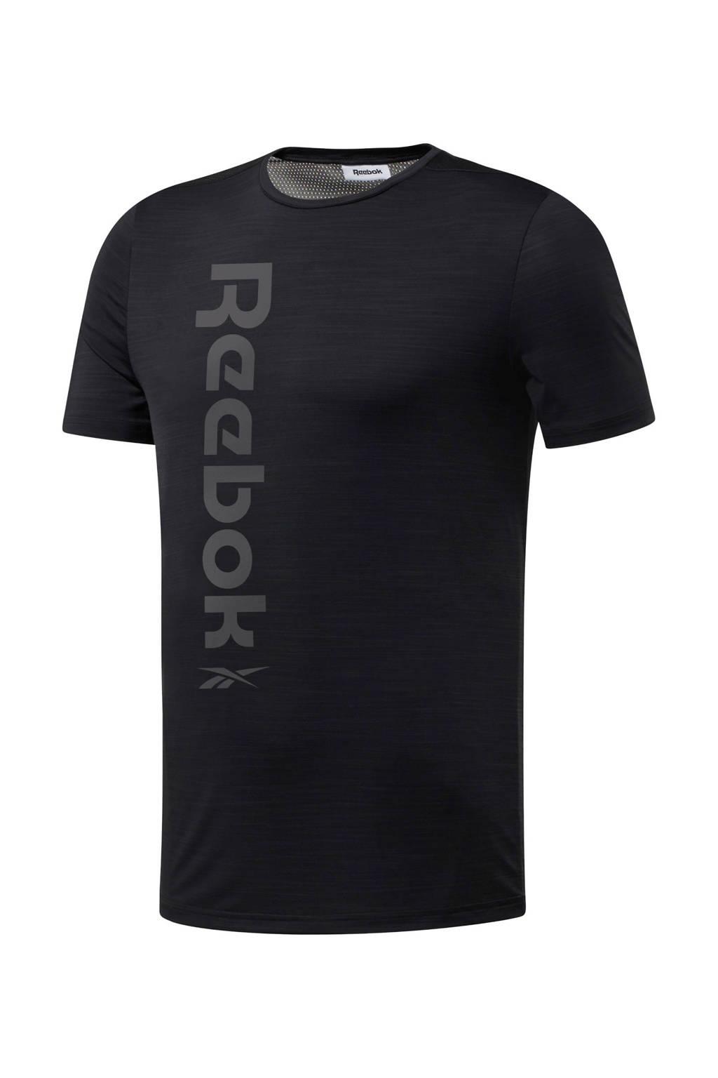 Reebok Training   sport T-shirt zwart/grijs, Zwart/grijs