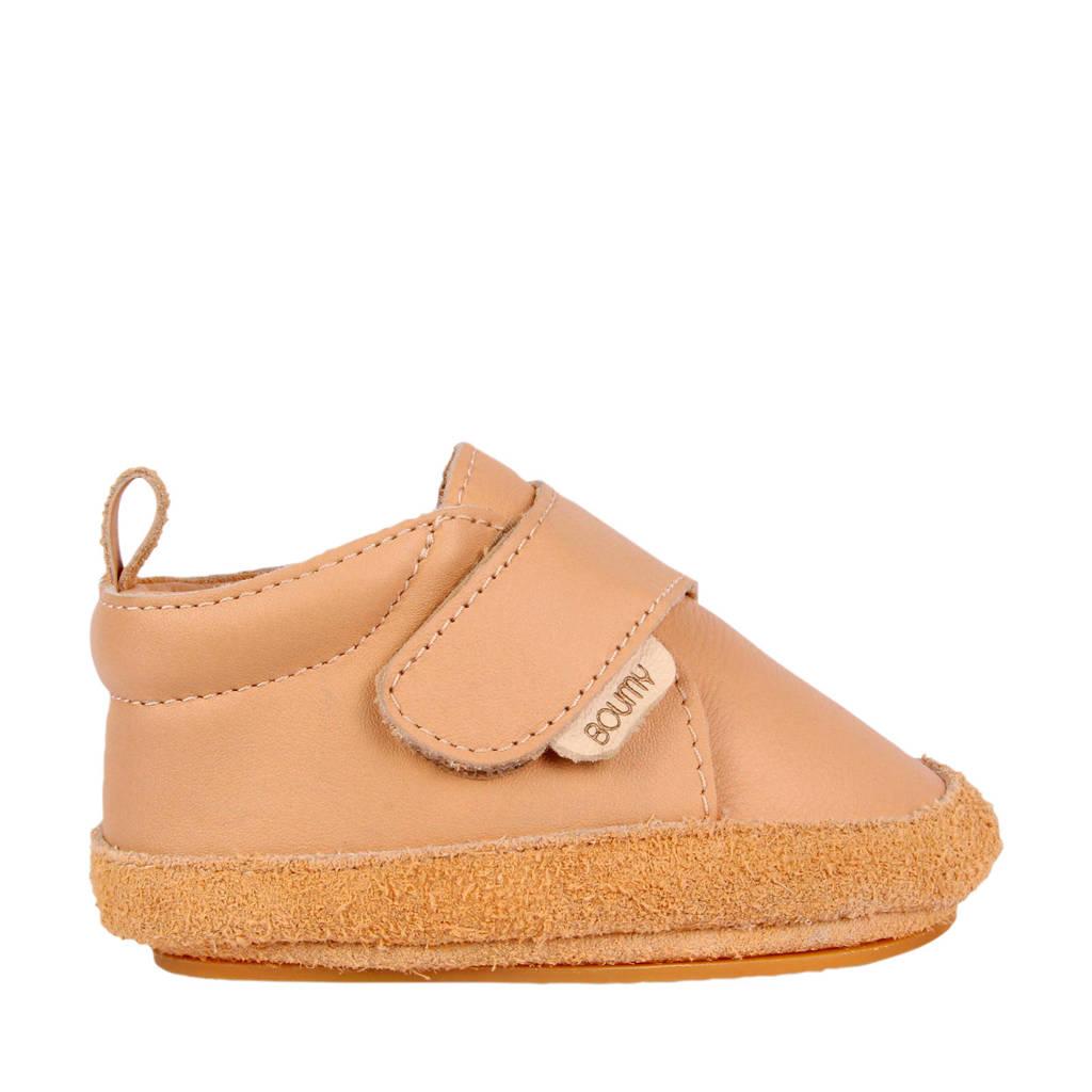 Boumy Aki  leren babyschoenen beige/roze, Beige/roze