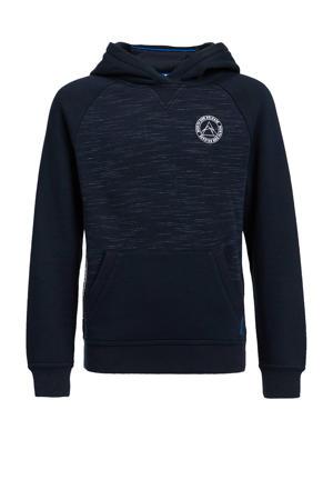 gemêleerde hoodie donkerblauw