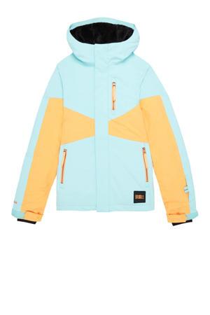 ski-jack lichtblauw/oranje