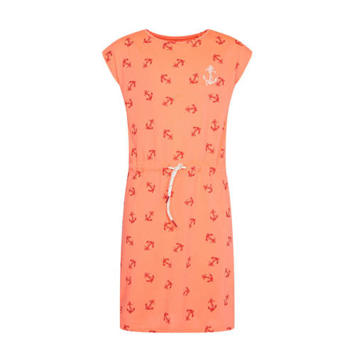 WE Fashion jersey jurk met all over print en bordu