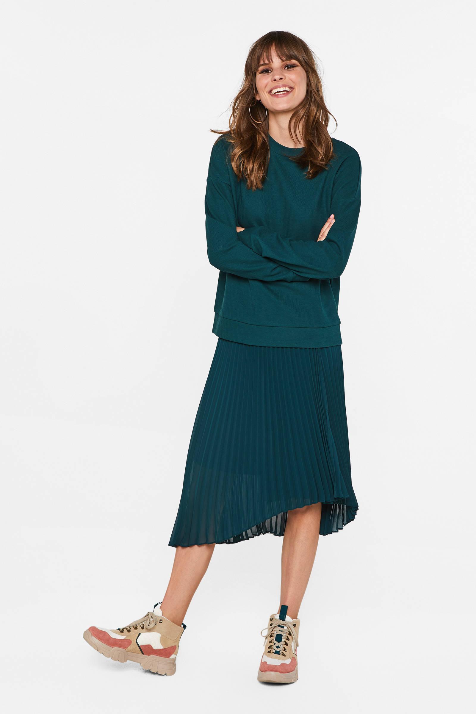WE Fashion gebreide trui groen