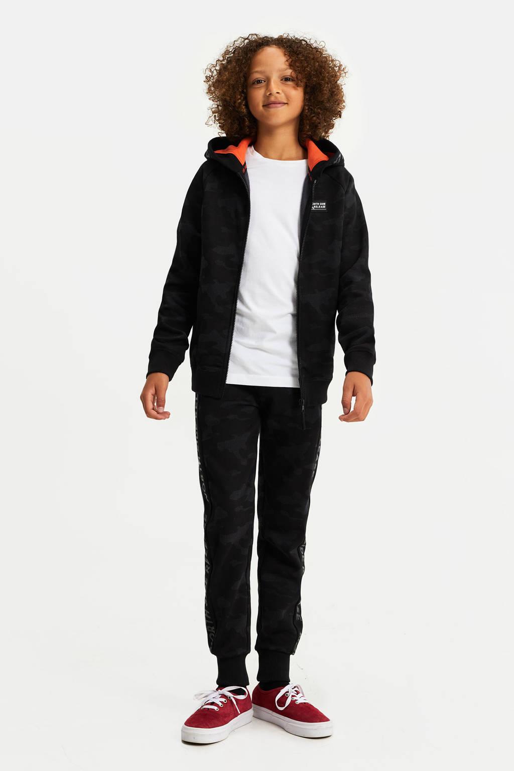 WE Fashion vest met camouflageprint zwart, Zwart