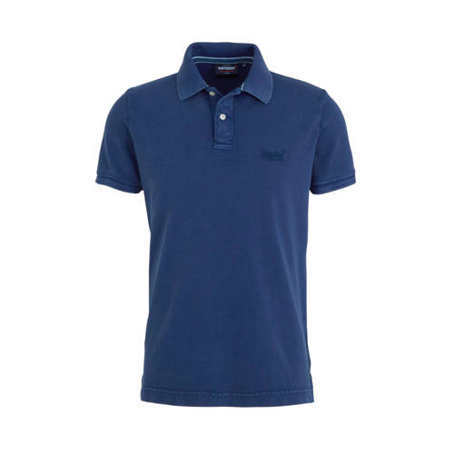 Superdry slim fit polo donkerblauw