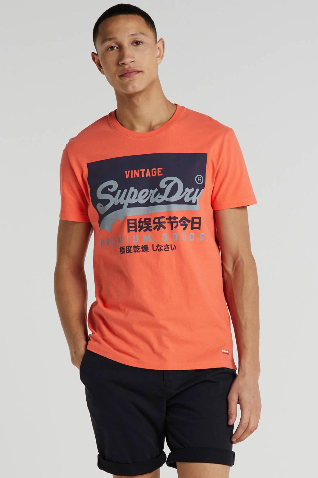 Superdry T-shirt met logo maladive pink, Maladive Pink