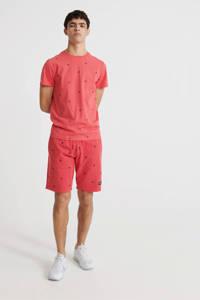 Superdry T-shirt van biologisch katoen roze, Roze