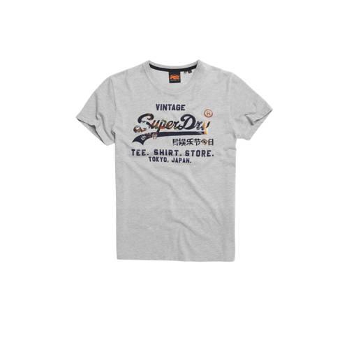 Superdry T-shirt met printopdruk grijs