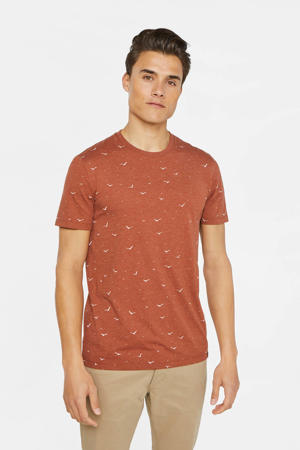 T-shirt met all over print oranje