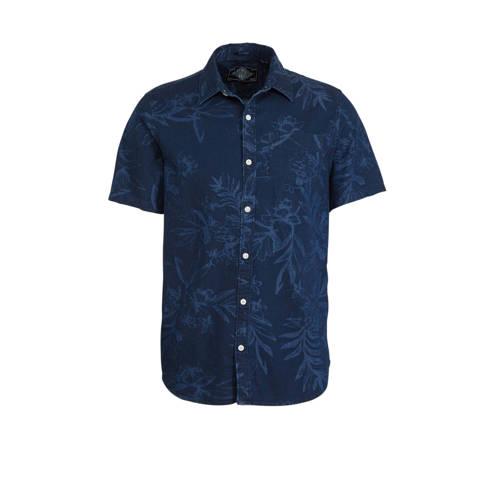 Superdry slim fit overhemd met all over print blau