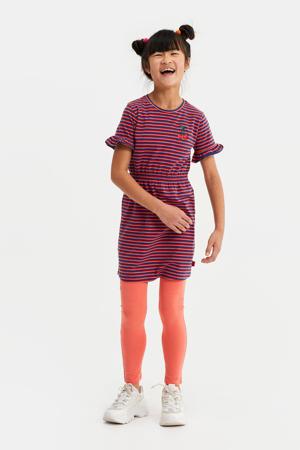 gestreepte jersey jurk blauw/rood/roze