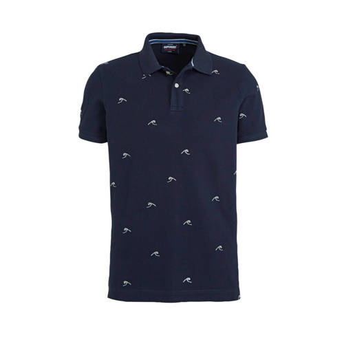 Superdry gem??leerde slim fit polo milkshakes blue