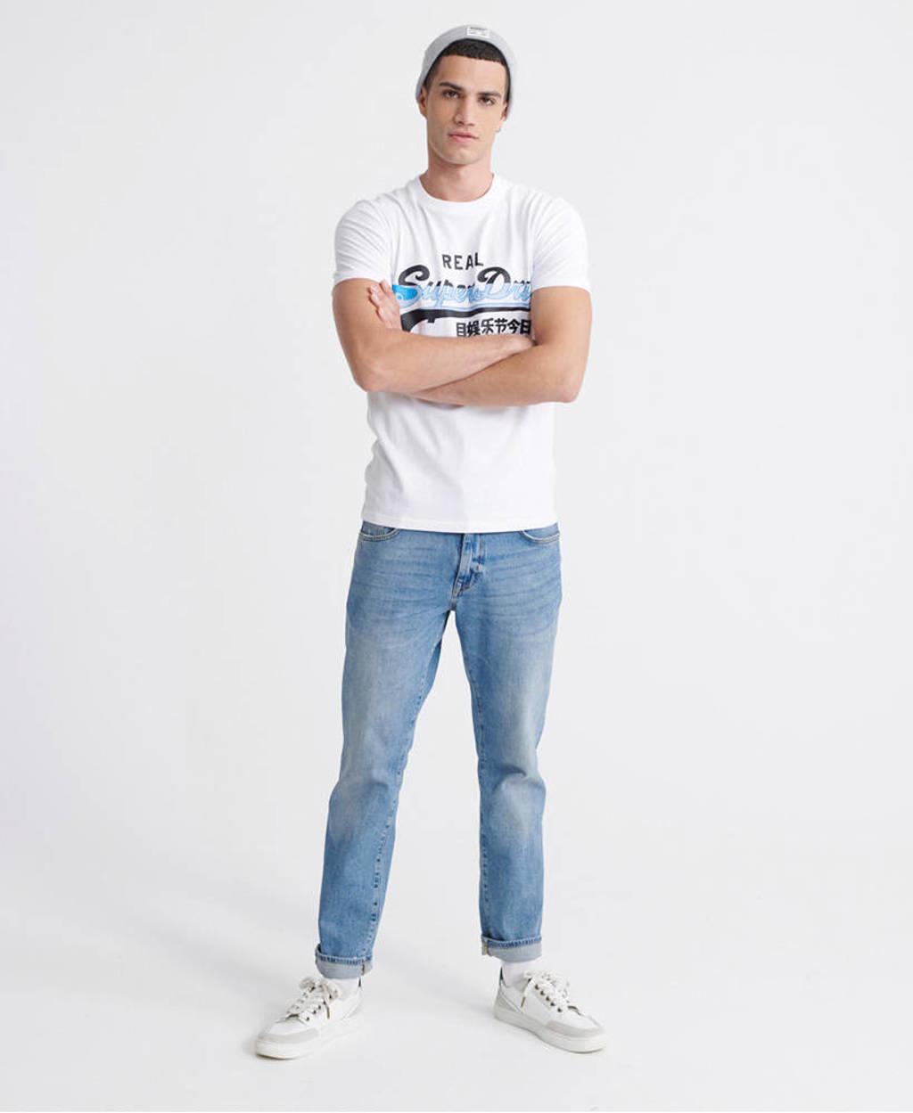 Superdry T-shirt met logo wit, Wit