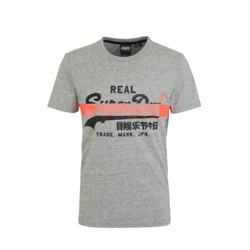 Superdry T-shirt met logo grijs
