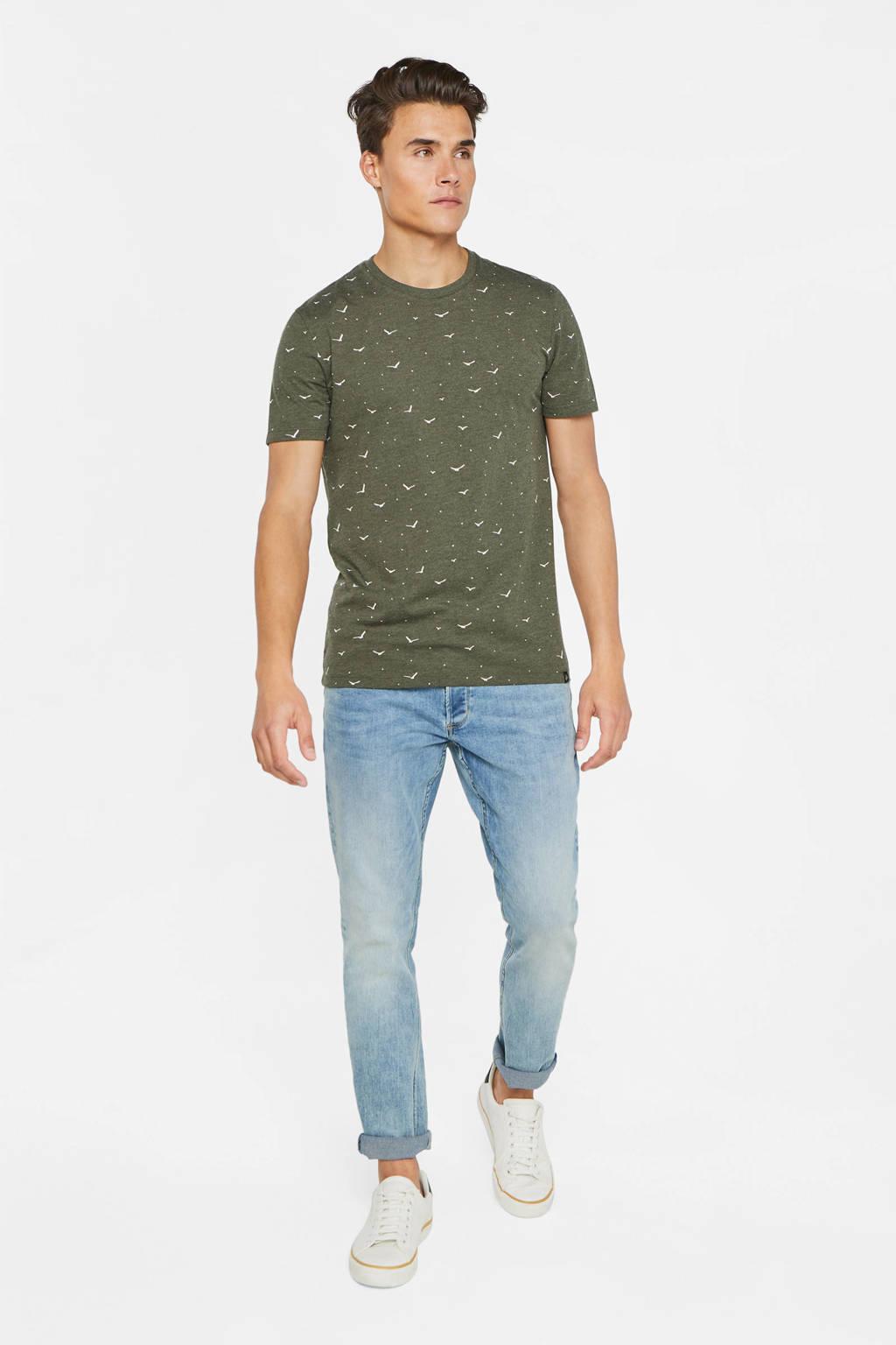 WE Fashion T-shirt met all over print groen, Groen