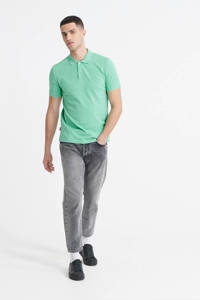 Superdry slim fit polo mintgroen, Mintgroen