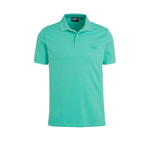 Superdry slim fit polo mintgroen