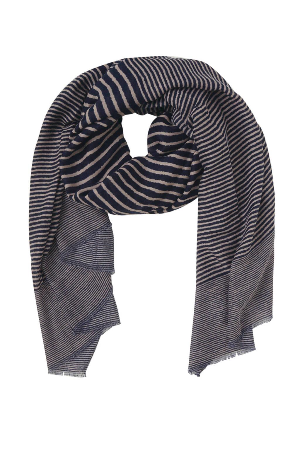 ONLY sjaal met all over print, Donkerblauw / beige